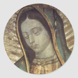 Lady Guadalupe Classic Round Sticker