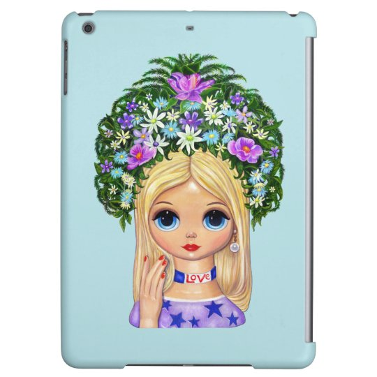 Lady Head Vase Love 1960s Blythe Flower Child iPad Air Covers