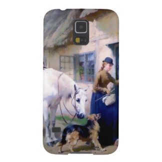 Lady Horse German Shepherd Cottage visitors Cases For Galaxy S5