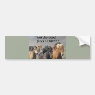 Lady Horse Gossip: Are The Good Guys All Taken? Bumper Sticker