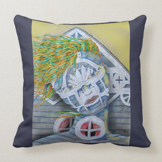LADY HOUSE by Slipperywindow Throw Pillow