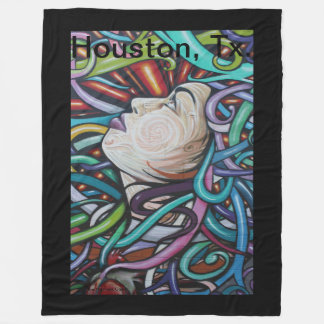 Lady Houston Graffiti Fleece Blanket