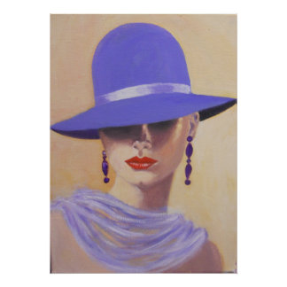 LADY IN A BLUE HAT, POSTER