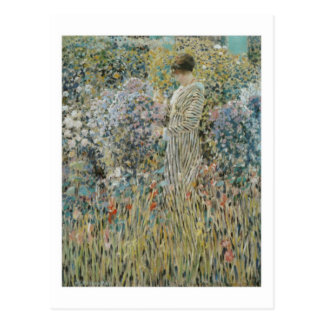 Lady in a Garden - Frederick Carl Frieseke Postcard
