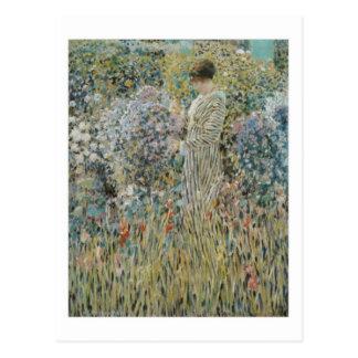 Lady in a Garden - Frederick Carl Frieseke Postcard