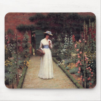 Lady In A Garden Mouse Pad