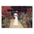 Lady in a Garden Postcard