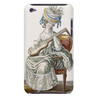 Lady in a Shot Taffeta Dress Trimmed with Lace Pla iPod Case-Mate Cases