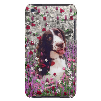 Lady in Flowers - Brittany Spaniel Dog iPod Touch Case