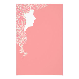 Lady in Pink Stationery