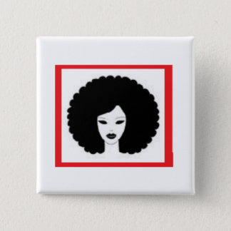 Lady in Red 2 Inch Square Button