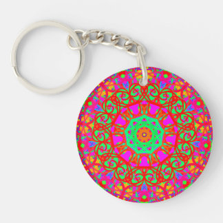Lady in Red Double-Sided Round Acrylic Keychain