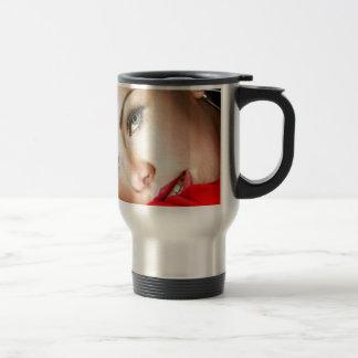 Lady in Red Travel Mug