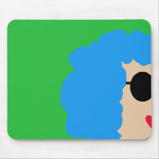 Lady in sunglasses mouse pad