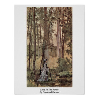 Lady In The Forest By Giovanni Fattori Poster