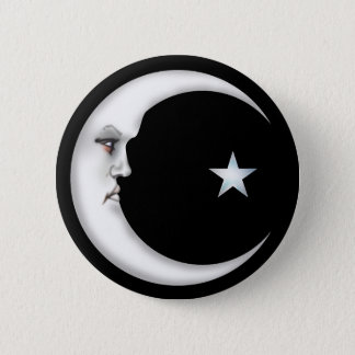 Lady in the Moon 2 Inch Round Button