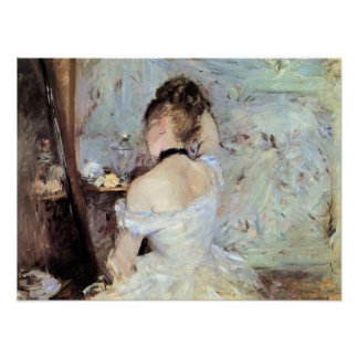 Lady in the Toilet by Berthe Morisot Poster