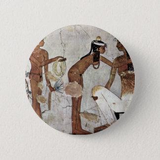 Lady In Toilet By Maler Der Grabkammer Des Zeserke 2 Inch Round Button