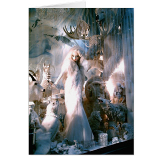 Lady in White Breaking the Ice Card
