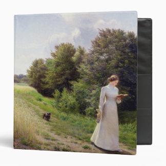 Lady in White Reading Vinyl Binder