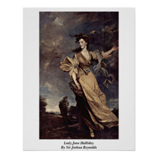 Lady Jane Halliday By Sir Joshua Reynolds Poster