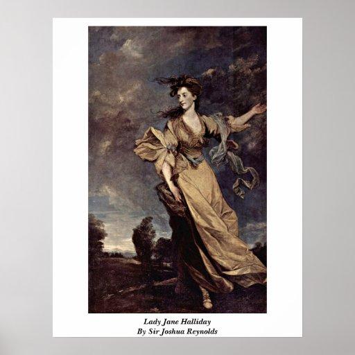 Lady Jane Halliday By Sir Joshua Reynolds Poster