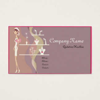 Lady Jewelry Shopping Business Cards