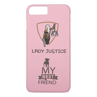 Lady Justice for my dog iPhone 8 Plus/7 Plus Case