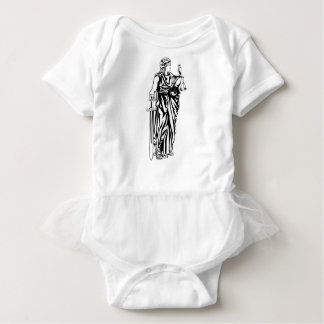 Lady Justice Illustration Baby Bodysuit