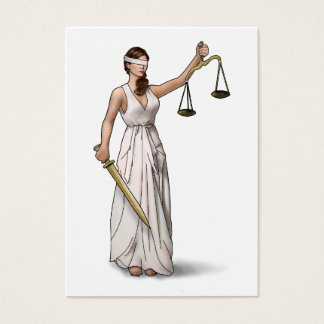 Lady Justice Illustration Business Card
