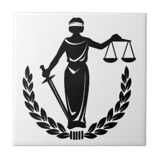 Lady Justice Ceramic Tile