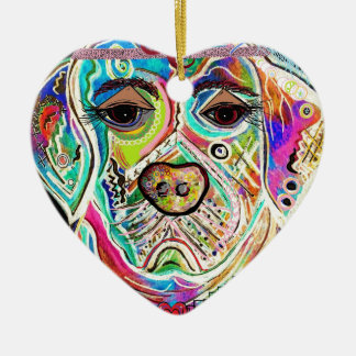 Lady Lab Ceramic Heart Ornament