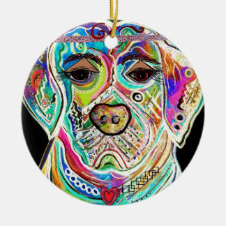 Lady Lab Round Ceramic Ornament