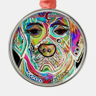 Lady Lab Silver-Colored Round Ornament