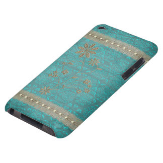 Lady Lace & Pearls Vintage Print iPod Touch Barely There iPod Cases