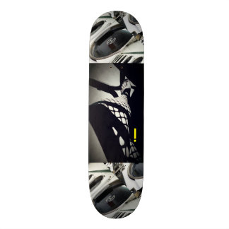 LADY LEG BLACK & WHITE GRAPHIC SKATEBOARD