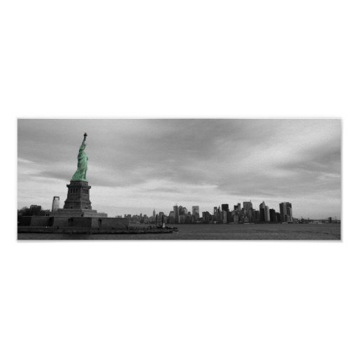Lady Liberty and NY skyline Posters