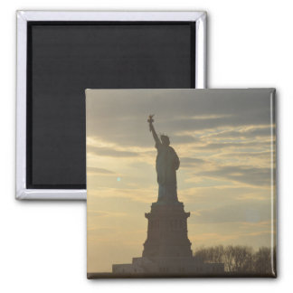 Lady Liberty at Sunset Square Magnet