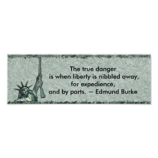 LADY LIBERTY - BUMPER STICKER - EDMUND BURKE QUOTE POSTER