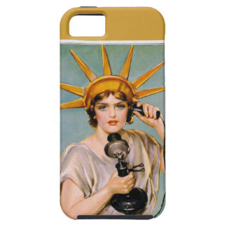 Lady Liberty Calling iPhone 5 Cover