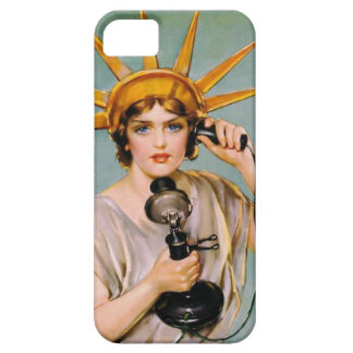 Lady Liberty Calls Collect iPhone 5 Case