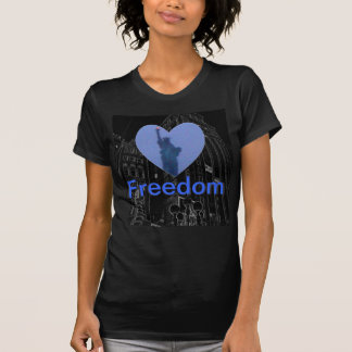 Lady Liberty Free Heart Tshirt Freedom Torch