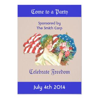 lady liberty invitation