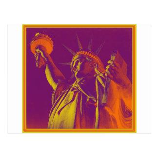 Lady Liberty Magic Postcard