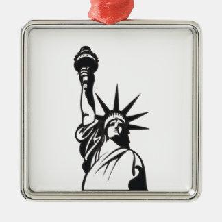 Lady Liberty Metal Ornament