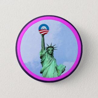 Lady Liberty Obama 2012 2 Inch Round Button