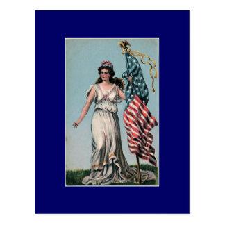 Lady Liberty Postcard