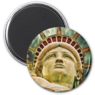 Lady Liberty, Statue of Liberty 2 Inch Round Magnet