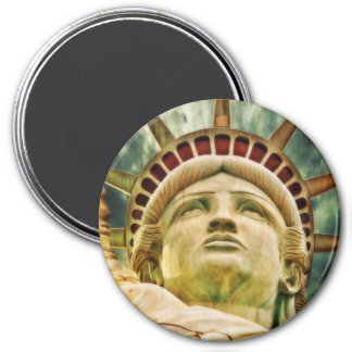 Lady Liberty, Statue of Liberty 3 Inch Round Magnet