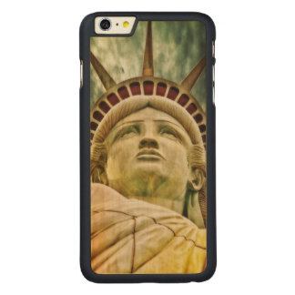 Lady Liberty, Statue of Liberty Carved Maple iPhone 6 Plus Case
